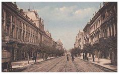 / B-dul Elisabeta 1917 Bucharest, Old City, Amen, Louvre, Street View, Memories, World, Travel, Beautiful