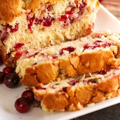 Cranberry Almond Bread with Cream Cheese Swirl has all the flavors of Christmas in one sweet, rich, easy to make bread. Cranberry Bread, Cranberry Almond, Butter Pie, Butter Recipe, Family Meals, Family Recipes, White Chocolate Raspberry Cake, Perfect Mashed Potatoes, Almond Bread