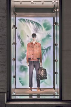 """FENDI, Madison Avenue, New York, USA, """"Tropical Futurism... Waiting for Summer together"""", photo by Retail Focus, pinned by Ton van der Veer"""