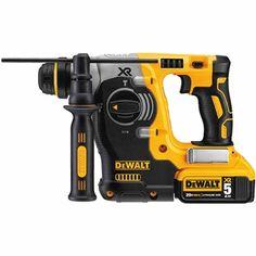 """20V Max XR Brushless 1"""" L-Shape SDS Plus Rotary Hammer Kit"""