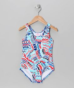 Another great find on #zulily! Blue Zigzag One-Piece - Infant by Kanu Surf #zulilyfinds