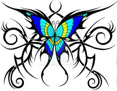 Tribal Tattoo Designs | tribal butterfly by ~KatieConfusion on deviantART