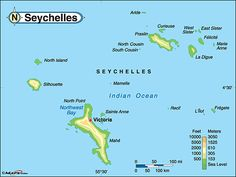 seychelles map - Google Search