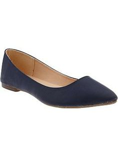 These are under $25 at Old Navy.  You could ad clips to them to make them look more nautical.   Women's Pointed Ballet Flats | Old Navy