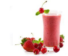 Frutos rojos combinados todos en una sola bebida... Que rico!!!
