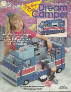 Fashion Doll Dream Camper in Plastic Canvas by CraftItWithLove