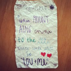 When Mountains Crumble...~ Journal Page Idea