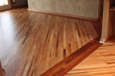 Two different wood floors in house with simple border | Flooring ...