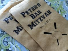 Baseball Bar Mitzvah Favor Bags Gift Bags Candy by pishposhparty, $12.50