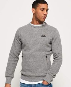 Superdry Homme Pull Upstate Wash Crew Sweat Olive