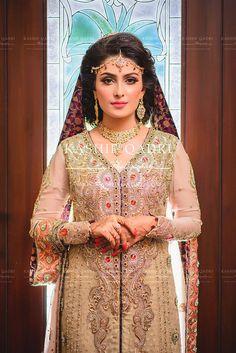 A Starry Wedding: Ayeza + Danish Pakistani Bridal Hairstyles, Pakistani Bridal Dresses, Pakistani Outfits, Indian Outfits, Wedding Dresses, Indian Clothes, Aiza Khan Wedding, Pakistani Models, Pakistani Actress