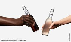 They look different on the outside but are all the same on the inside. That's true of people all over the world—and now of ALI COLA. A cola that comes in different skin colors. #cheerstotolerance #toleranzschmeckt