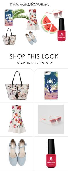 """GETtheKORONAlook"" by gpar05 on Polyvore featuring Jessica Simpson, Casetify, LOFT and Red Carpet Manicure"
