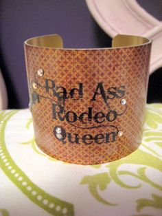 Bad Ass Rodeo Queen Rustic Country Western Rockabilly by kiki6462, $22.00