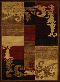 "Modern Brown Red Burgundy 5x8 Area Rug Geometric Carpet - Actual 5 '3"" x 7' 2"" #PowerSellerUSA #Modern"