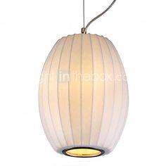 25W Moderne 1 - Light Pendelleuchte in Fibre Farbe Weiß Arc Design