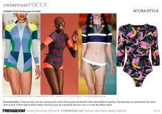 #Trendzine SS 2018 trends on #WeConnectFashion. Women's Swimwear: Outsider mood