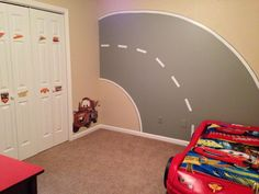 Disney Cars Bedroom. I Think The Road Mural I Painted Looks Really Cute In  This