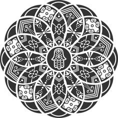 Ornamental Hamsa Mandala is a T Shirt designed by Mel00 to illustrate your life and is available at Design By Humans