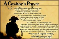 The Cowboy Prayer. ❤