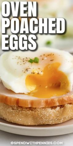 Make oven poached eggs in a toaster oven or a steam oven. Use ramekins or cook in silicone muffin cups, they turn out perfect every time. #spendwithpennies #ovenpoachedeggs #breakfast #recipe #poachedeggs #easy #muffintins #eggs #oven #healthy Breakfast Bake, Breakfast Dishes, Breakfast Casserole, Breakfast Recipes, Easy Poached Eggs, Perfect Poached Eggs, Egg Recipes, Cooking Recipes, Kitchen Recipes