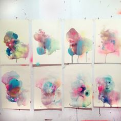 Monotypes in the studio. Melissa Loop