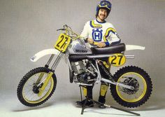 Billy Grossi's 82 works Husky 500. This was a Motocross Action photo.