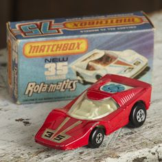 Matchbox Rola-matics Fandango no:35. Comes with original box a great example from the 80's in fairly good condition. It has a few chips to the paint on the car but the box is in near mint condition. A great collectors piece.