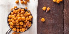 These roasted chickpeas, seasoned with a punch of nacho flavor are the healthy, plant-based vegan snack you've been looking for. Enjoy with friends!