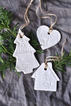 Get updates delivered right to your inbox! Clay Christmas Decorations, Whimsical Christmas, Diy Christmas Cards, Magical Christmas, Merry Little Christmas, Modern Christmas, Winter Christmas, Holiday Crafts, Christmas Ornaments