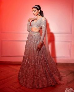 The gorgeous @juhigodambe at her glam-packed sangeet ❤️. Sangeet Outfit, Pink Lehenga, Bridal Lehenga, Intimate Wedding Ceremony, Engagement Dresses, Cocktail Gowns, Picture Outfits, Lehenga Designs, Bridal Looks