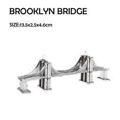 Sleeping Beauty's Castle/Himeji Jo/Brooklyn Bridge 3D Metal Puzzles