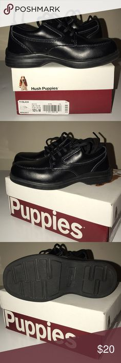 Hush puppies dress shoes size for boys Hush puppies dress shoes for boys size 10 1/2 wide width Only worn once Hush Puppies Shoes Dress Shoes