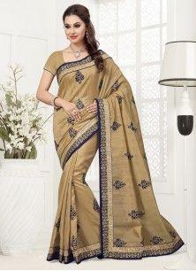 Divine Bhagalpuri Silk Patch Border Work Designer Saree