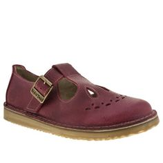 womens red or dead pink jade flats