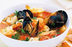 Bouillabaisse seafood stew. Made one that looked a lot like this.