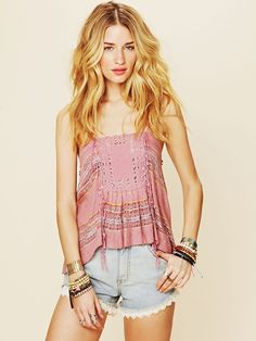 Free People FP New Romantics Love For Fringe Cami, $98.00(front)