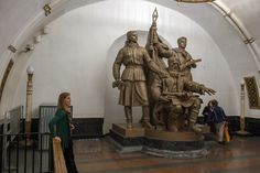 Στάση μετρό Kievskaya Moscow Metro, World Famous, Most Beautiful, Statue, Sculpture, Sculptures