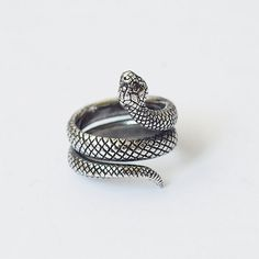 Snake ring Snake jewelry Snake Silver ring Silver by BDSartJewelry