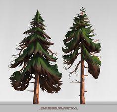 ArtStation - Pine trees concepts, Ulysse Verhasselt