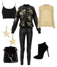 """""""gold star"""" by muguet07 on Polyvore featuring Maje, Alexander Wang, Lemaire, Rebecca Minkoff and Chloé"""