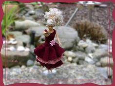 """Puppenkleidung - Kleid mit 3 Stufen und """"Fächer"""" ** für Barbie ** - ein…"""