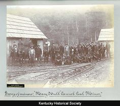 "Group of miners, ""Mary Hull"" Cannel Coal Mines, Bell County, Kentucky, ca. 1894."
