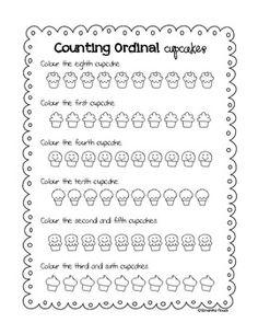 Coloring Cupcakes :) ...more ordinal numbers practice