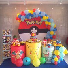 Pokemon Birthday, Pokemon Party, All Pokemon, 8th Birthday, Birthday Ideas, Birthday Parties, Pokemon Balloons, Pokemon Halloween, Pikachu