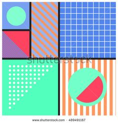 Geometric background in retro style. Memphis trendy art. Abstract poster, surface, card design