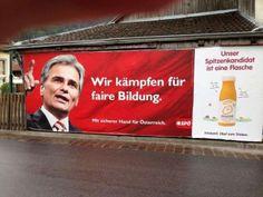 22 Wahlplakate, die schon vor der ersten Hochrechnung scheiterten