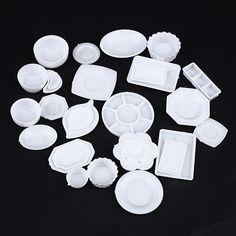 33 Pcs Kitchen Dinner Mini Tableware Set Miniatures Cup Dish Ornaments Decor