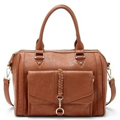 SOLE SOCIETY - BRYER - vegan satchel w/braided detail - color brown (also comes in black) - $49.95