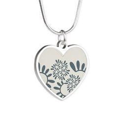 "Ornament ""Smoky"" Necklaces Ornament ""Smoky"" vegetable, gray-blue color  $45.49"